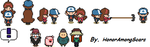 Gravity Falls Dipper and Mabel (and friends) by HonorAmongScars