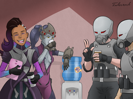 Overwatch: Water Cooler Banter by Fulcrumb