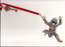 Ezio Hookblade Bookmark by Noted451