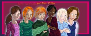 Mrs. Weasley and Mrs. Potter.. by HogwartsArt