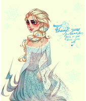 Frozen: Elsa: Thank You For Everything by ZARINAABZALILOVA