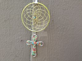 Colorful Cross Dream Catcher by Craft-Me-A-Dream