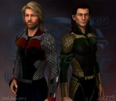 Thor  and Loki by michellecelebrielle