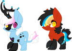 Spaztic Winter Foals 1 by Kyah-Pony-Adoptables