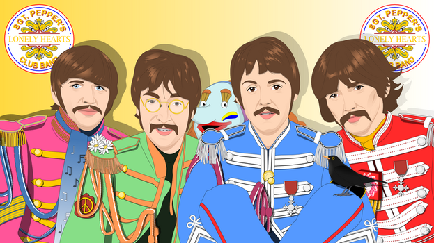 Sgt. Pepper's Lonely Hearts Club Band - new by ElderKitsune