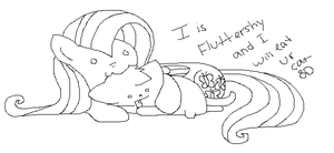 I Is Fluttershy and I will Eat Ur Cat 8D by BloodIust