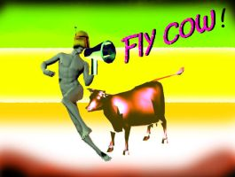fly cow by Mikiel