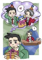 Happy Birthday, Mr. Edgeworth by kopiikat