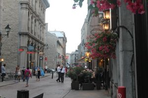 Old Montreal at sunset by tdogg115