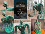Forgotten Robot Soldier Sculpture by timeandmotion