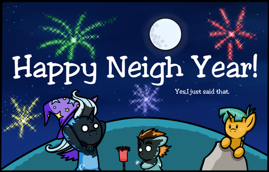 Happy Neigh Year by MangaMeister