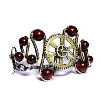 Steampunk cherry bracelet by CatherinetteRings
