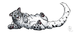 Snow Leopard Cub by painted-flamingo