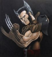 Wolverine Painting by Ken-Branch