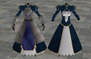 'Fate/Zero' Saber's armor XPS ONLY!!! by lezisell