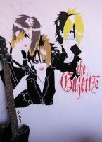 The GazettE on the... wall by NyappyMitsuko