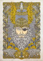 ODIN screen print version by Firebrander