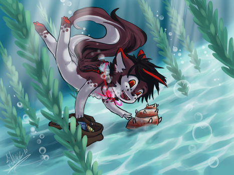 Shell Diving by silver-dragonetsu