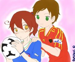 To Euro 2012 final: Italy vs Spain by Pancake9Andy