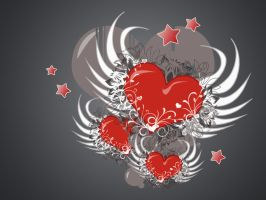 Hearts,hearts...with wings by butterfly1159