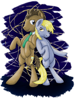 Derpy and The Doctor by rukitichi