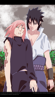 Naruto Scan 685 Sasuke and Sakura by Sarah927