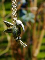 Humming Bird Necklace by EveryDayIsNewToMe