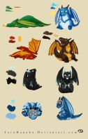 Warcraft Dragonwhelplings by TaruHanako