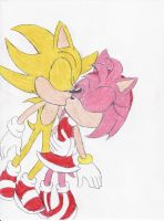 Super Sonic x Amy Kiss by BlueSpeedsFan92