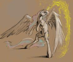 Celestia Sketch by SilFoe