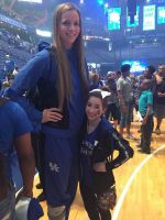 Tall basketball player short fan by lowerrider
