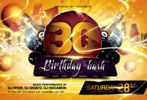 Birthday Bash Party Flyer by caniseeu