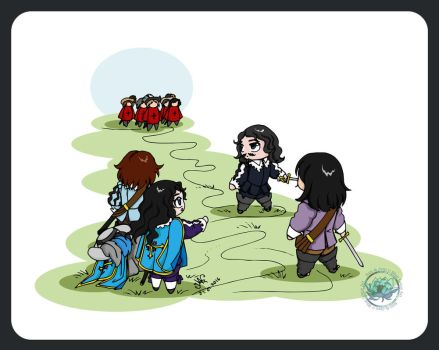 The Three Musketeers - Chibi Musketeers Story 6 by DeathLawliet