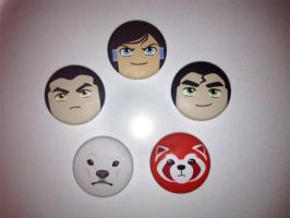 Legend of Korra buttons by Rosewine