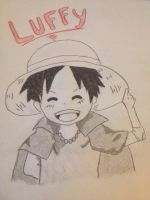 Kid Luffy Sketch by whitewolf564