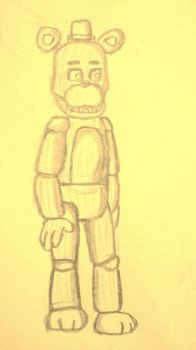 Withered Freddy(Practice Draw) by BlackMasterElite15