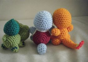 Little Anime Game Monsters Rear View Amigurumi by ChibiSayuriEtsy