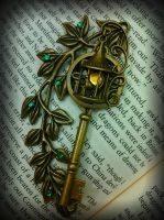 Garden Lamp Post Fantasy Key by ArtByStarlaMoore