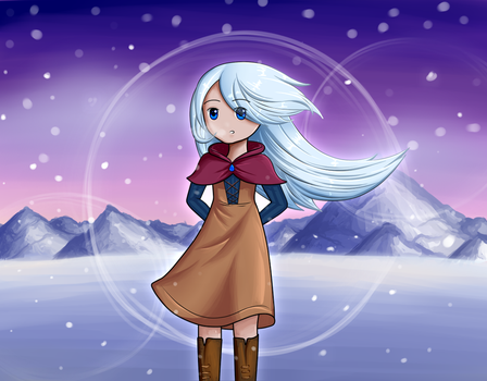 Girl in the Snowy Mountains by Frostyflytrap
