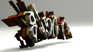 flowjob 3d-graffiti reload by UrbanCalligraphism