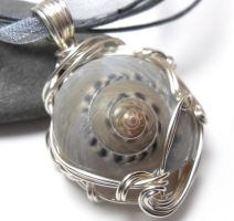 Moonsnail Necklace by sojourncuriosities