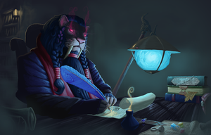 The Arcane Scroll Writer by Mick-o-Maikeru