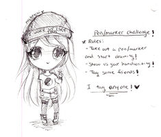 Pen Only Challenge! by mochatchi