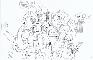 APH+Dreamer - July 4th sketch by JadeRaven93