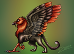 Bearded Vulture Gryphon by Rinley