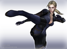jill valentine wallpaper -RE5 by AR-0