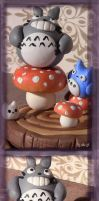 Totoro's Toadstool Stump by Illeander
