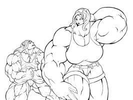 Ripped vs big by faogwolf