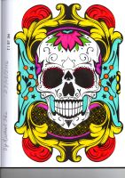 Tattoos Day of the Dead Skull by Scarlet1449