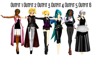 MMD Outfit Pack 1 DL by 2234083174